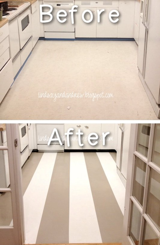 Our best 2017 double wide remodel ideas tips and tricks for Paint old linoleum floor