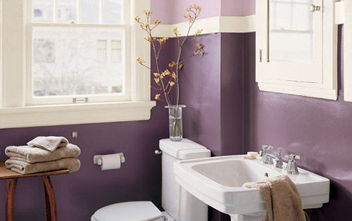 Bathroom with Purple