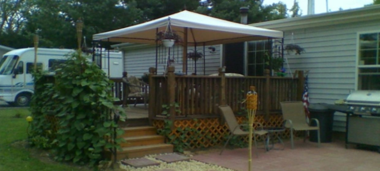 wood mobile home - Mobile Home Landscaping Our 101 Guide To Beautifying Your Home
