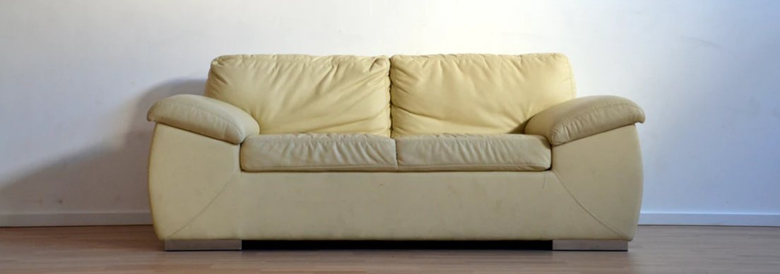old yellow couch