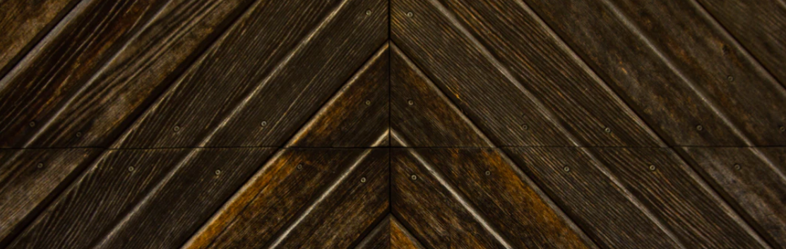 Diagonal wood slats