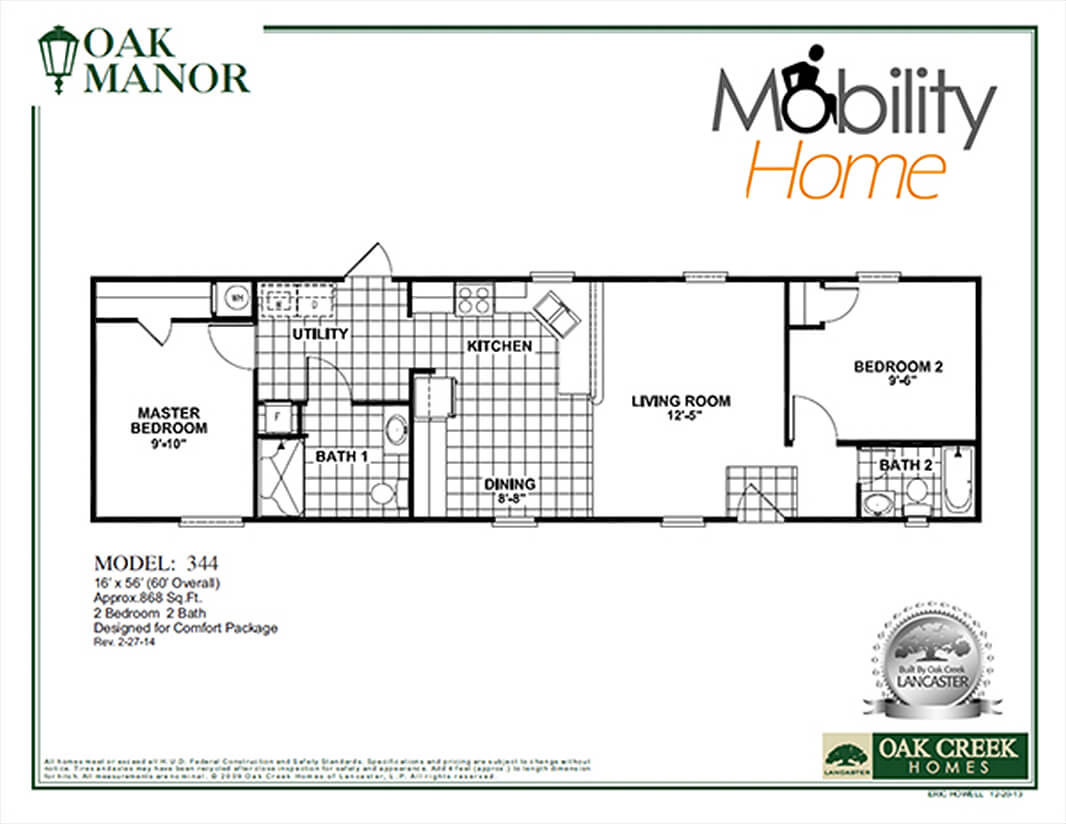 Handicap accessible home plans for your mobile home for Handicapped accessible house plans