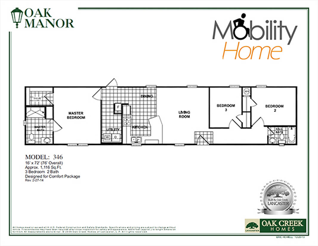 Handicap accessible home plans for your mobile home for Accessible house plans