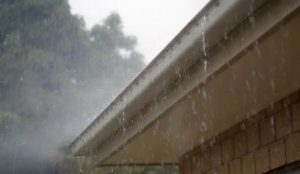 rain and house gutter