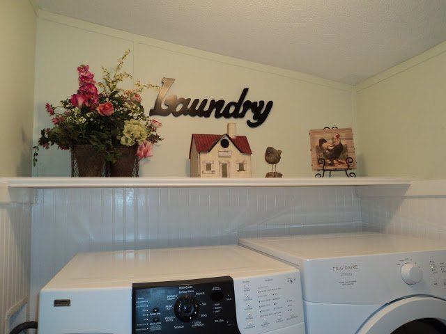 Inside mobile home laundry room - after photo