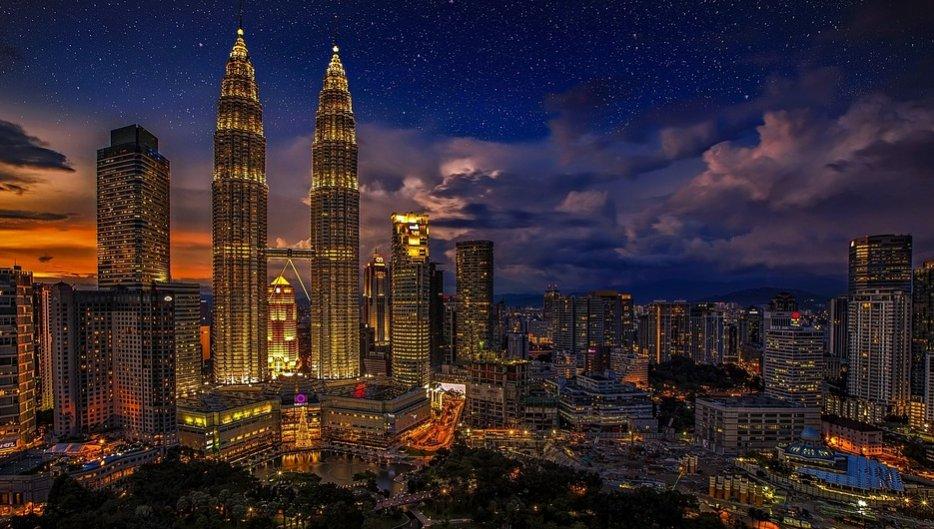 Petronas Towers in city of KL, Malaysia