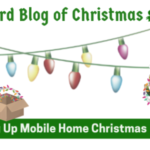 3rd Blog Of Christmas: String Up Mobile Home Christmas Lights