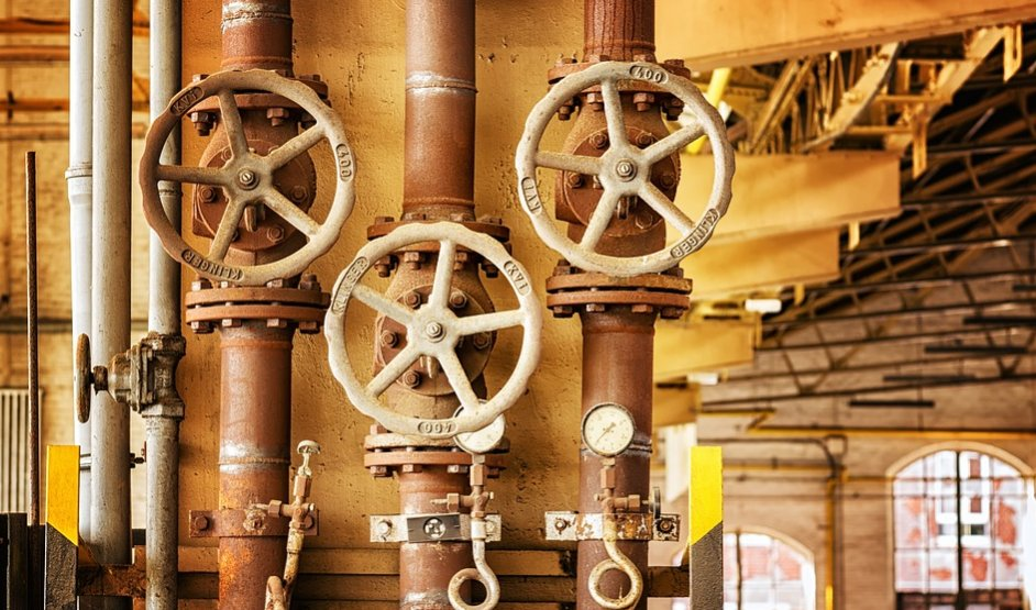 Valves in an industry