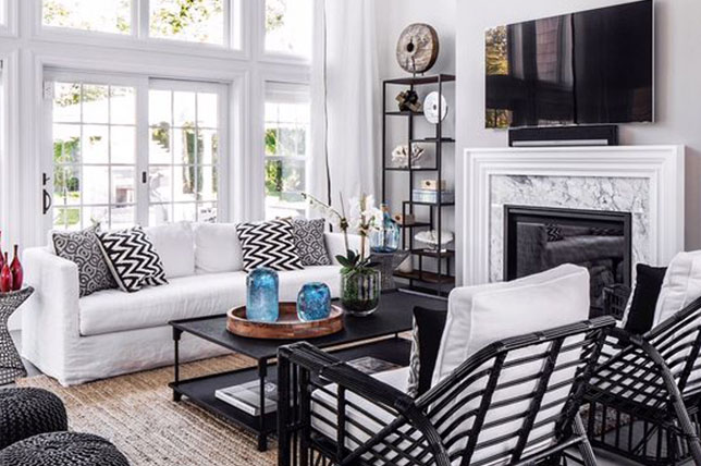 Black and white house decor
