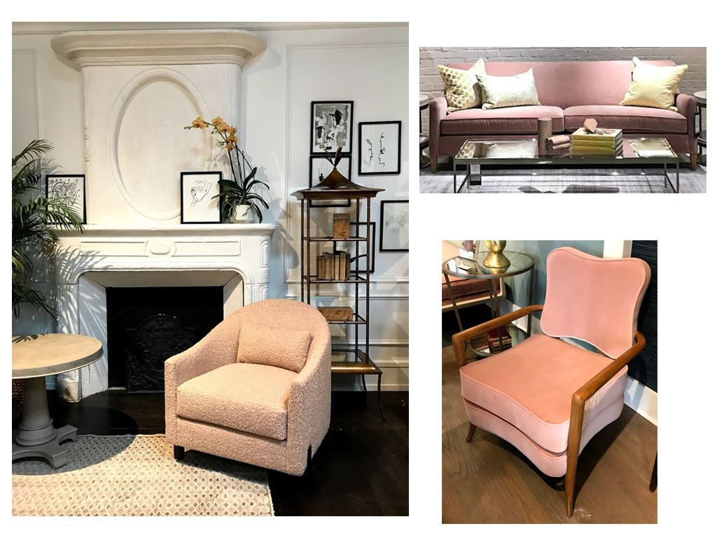 Blush pink interior house decor