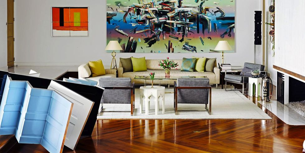 Maximalist art-friendly home interior design