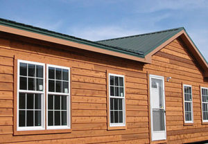 Wood siding for mobile homes