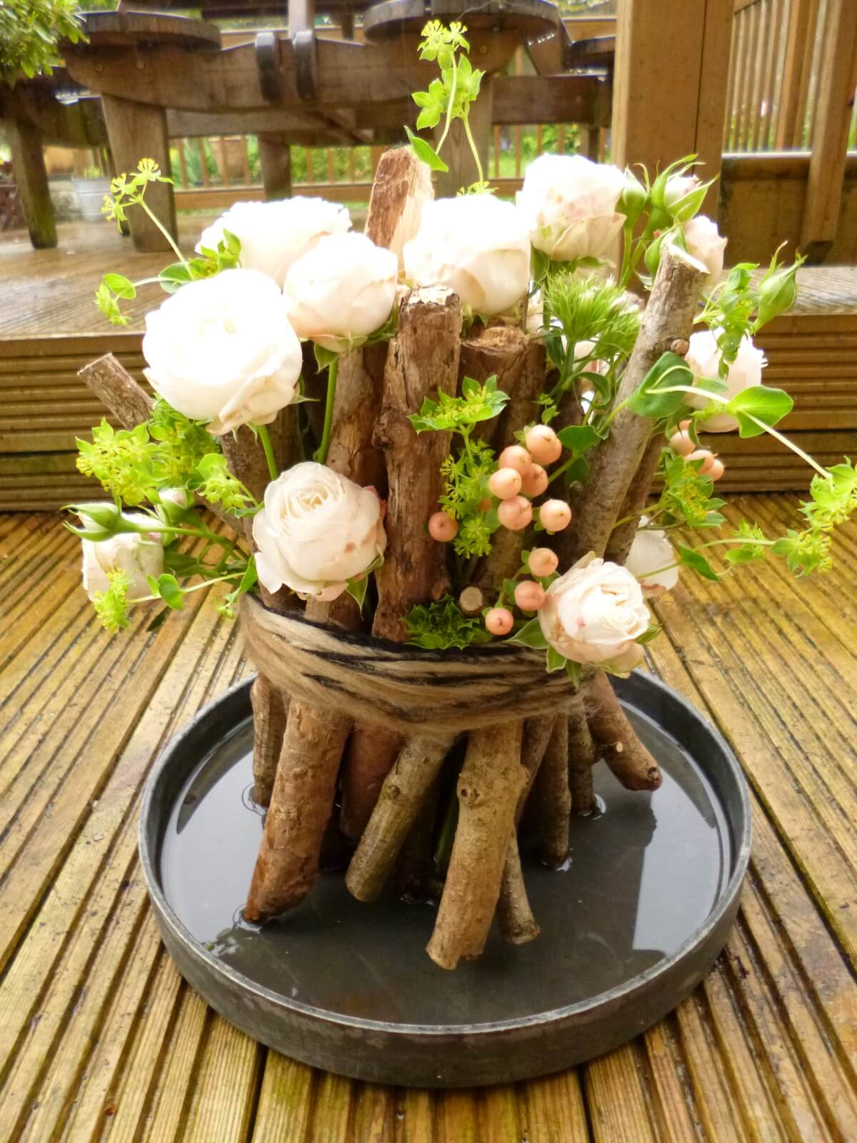summer table decoration ideas woodland