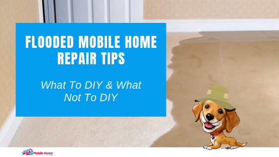"Featured image for ""Flooded Mobile Home Repair Tips_ What To DIY & What Not To DIY"" blog post"
