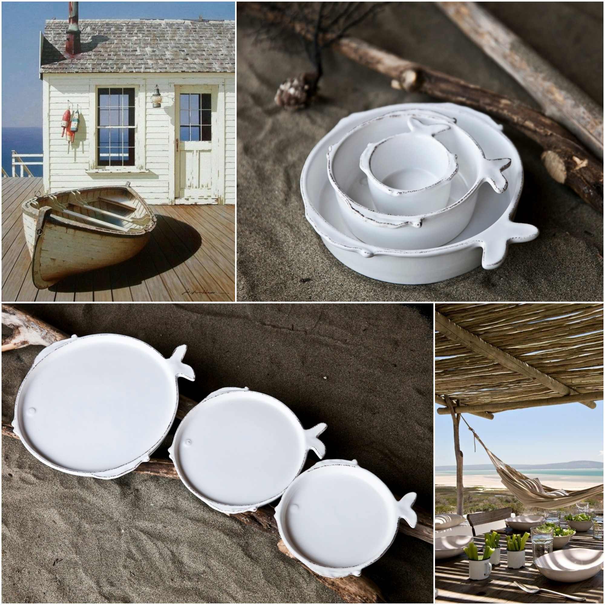 Beachy accents dish set