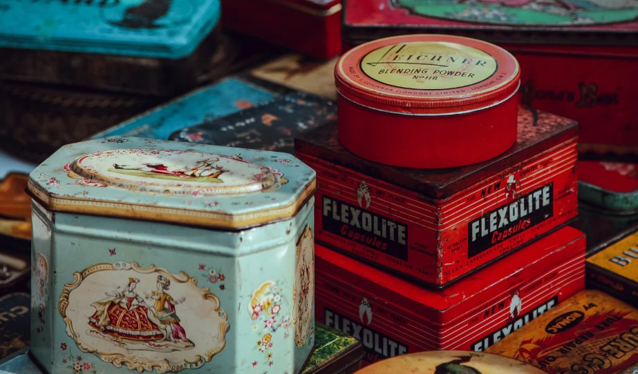 Vintage cans and canisters