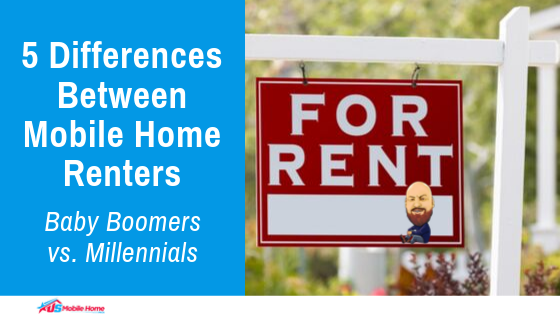 "Featured image for ""5 Differences Between Mobile Home Renters Baby Boomers vs Millennials"" blog post"