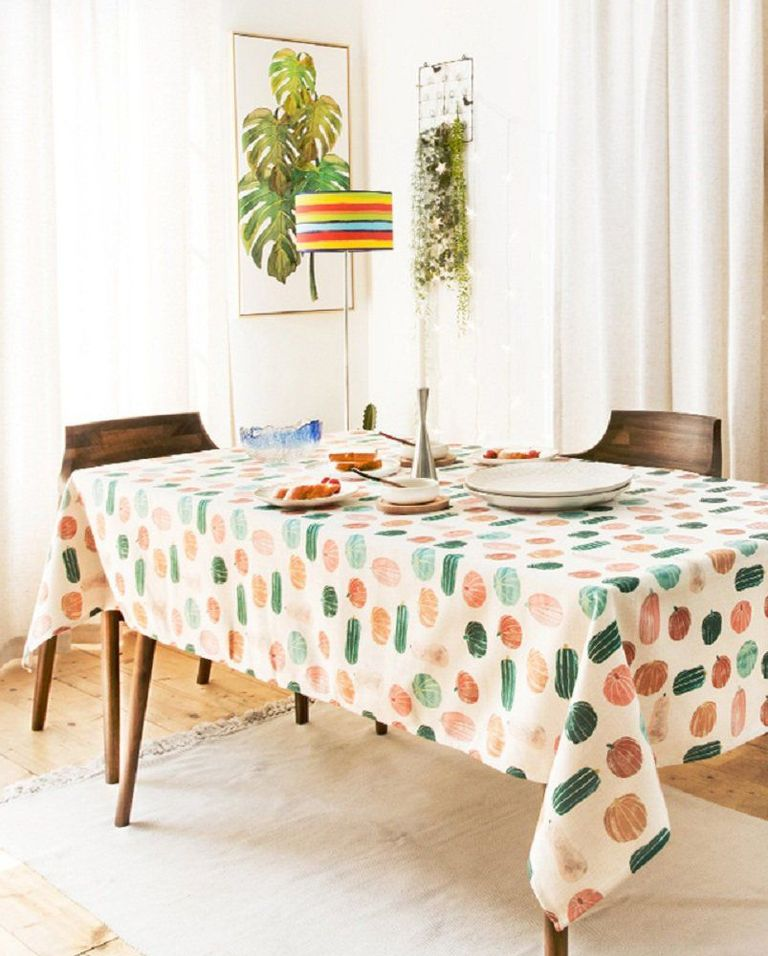 Fall theme tablecloth