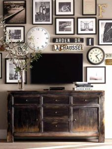 Industrial home decor on wall