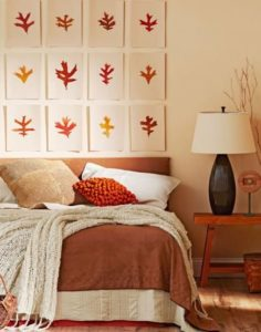 Autumn theme bed