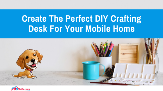Create The Perfect DIY Crafting Desk For Your Mobile Home