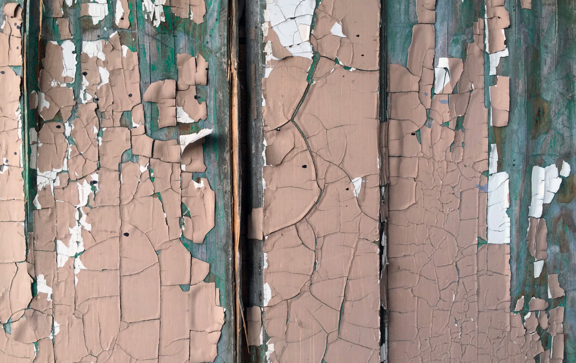 Peeling paint from the wall