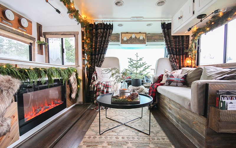 Cozy Christmas decor in RV