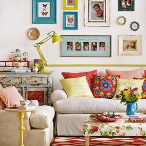 Vintage eclectic living room
